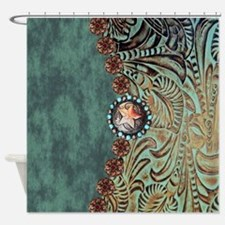 Funny Turquoise Shower Curtain