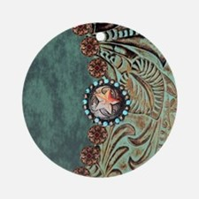 Cool Turquoise Round Ornament