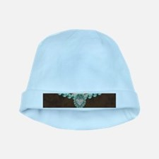 cow hide western leather baby hat