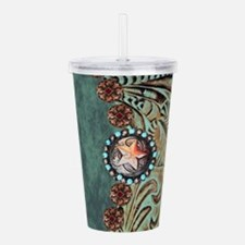 Country Western turquo Acrylic Double-wall Tumbler