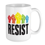 Anti trump resist Large Mugs (15 oz)
