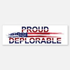 Proud Deplorable Bumper Bumper Bumper Sticker