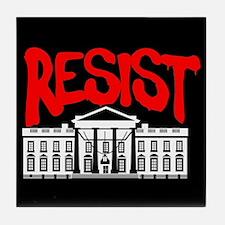 Resist White House Tile Coaster