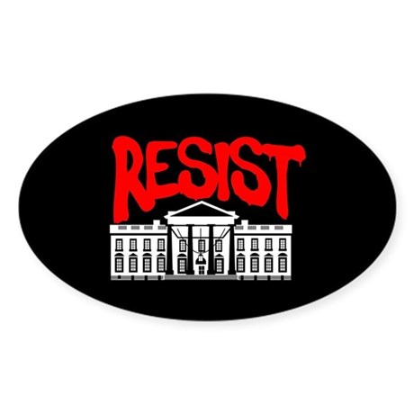 Resist White House Oval Sticker