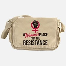 Womans Place in Resistance Messenger Bag