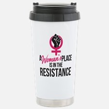 Womans Place in Resista Travel Mug