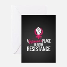 Womans Place in Resistance Greeting Card