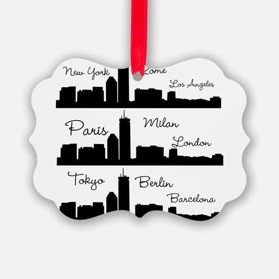 Fashion Capitals of the World Ornament