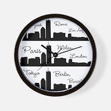 Fashion Capitals of the World Wall Clock