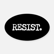 RESIST. Oval Car Magnet