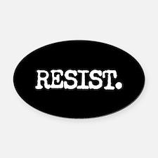 RESIST. Oval Car Magnet