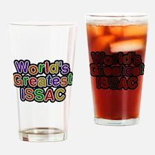 Worlds Greatest Issac Drinking Glass