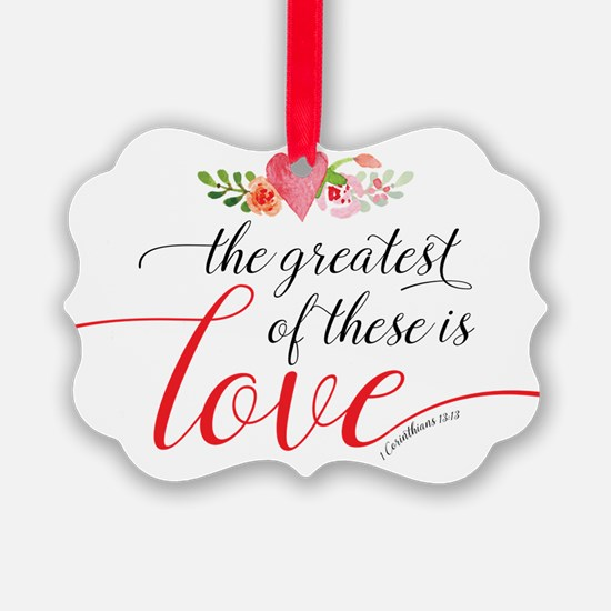 Greatest Love Ornament