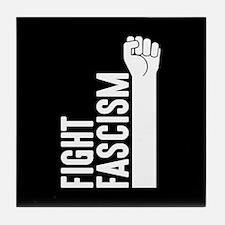Fight Fascism Tile Coaster