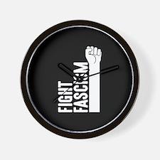 Fight Fascism Wall Clock