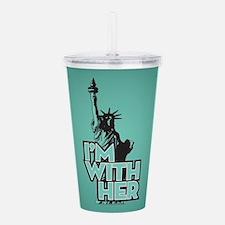 Lady Liberty - Im With Acrylic Double-wall Tumbler