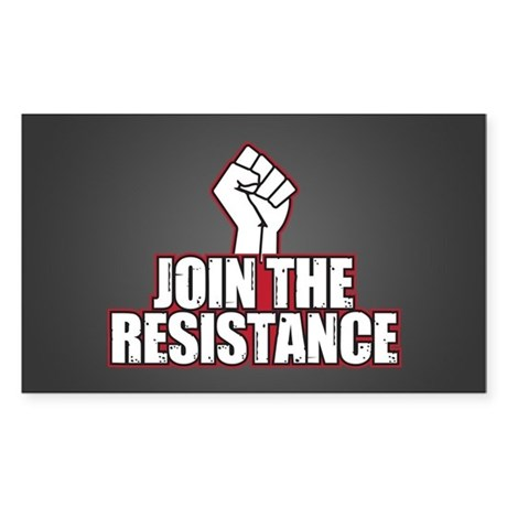 Join the Resistance Rectangle Sticker