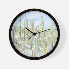 Many Saguaros In Arizona Wall Clock