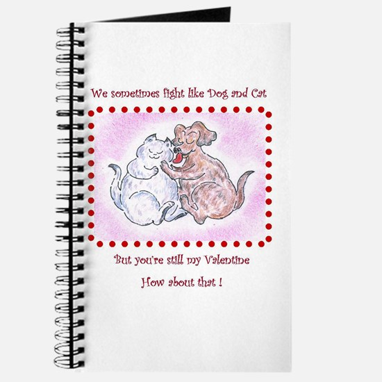 Dog and Cat, Funny Valentine Journal