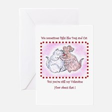 Dog and Cat, Funny Valentine Greeting Cards