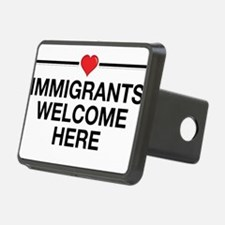 Immigrants Welcome Here Hitch Cover