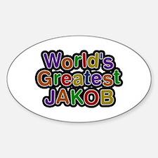 World's Greatest Jakob Oval Decal