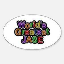 World's Greatest Jase Oval Decal