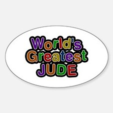 World's Greatest Jude Oval Decal
