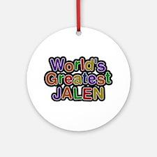 World's Greatest Jalen Round Ornament