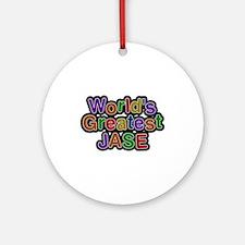 World's Greatest Jase Round Ornament