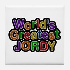 World's Greatest Jordy Tile Coaster