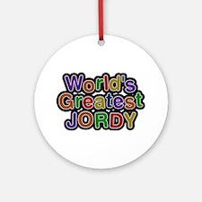World's Greatest Jordy Round Ornament
