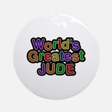 World's Greatest Jude Round Ornament