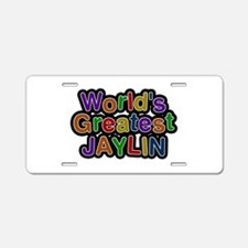 World's Greatest Jaylin Aluminum License Plate