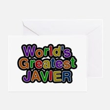 World's Greatest Javier Greeting Card