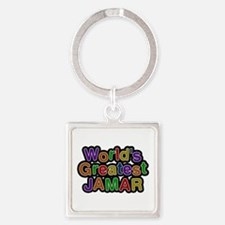 World's Greatest Jamar Square Keychain