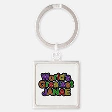 World's Greatest Janae Square Keychain
