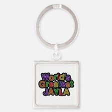 World's Greatest Jayla Square Keychain