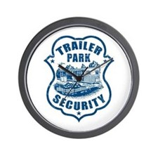 Trailer Park Security Wall Clock