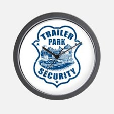Trailer Park Security Wall Clock