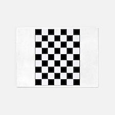 Checkered 5'x7'Area Rug
