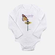 Monarch butterfly resting Body Suit