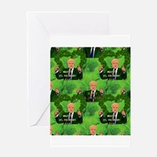st patricks day donald trump Greeting Cards