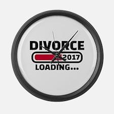 Divorce 2017 loading Large Wall Clock