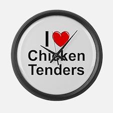 Chicken Tenders Large Wall Clock