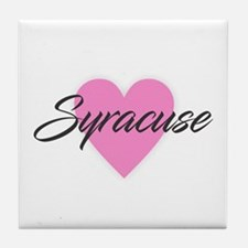 I Heart Syracuse Tile Coaster
