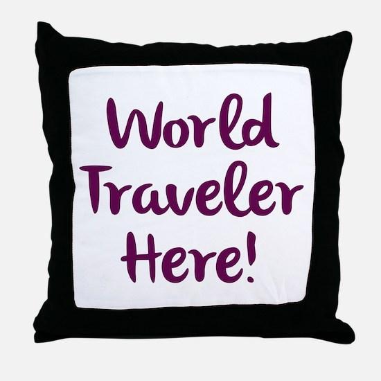 World Traveler Throw Pillow