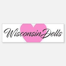 I Heart Wisconsin Dells Bumper Bumper Bumper Sticker