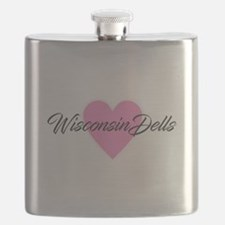 I Heart Wisconsin Dells Flask