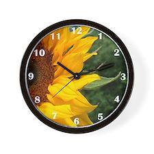 Edge Of A Sunflower Wall Clock